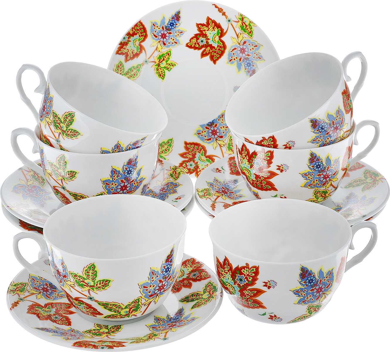 Чайный набор LarangE Восточный микс, цвет: оранжевый, синий, зеленый, 12 предметовVT-1520(SR)Чайный набор LarangE Восточный микс состоит из шести чашек и шести блюдец,изготовленных из фарфора. Предметы набора оформленыизящным ярким рисунком.Чайный набор LarangE Восточный микс украсит ваш кухонный стол, а такжестанет замечательным подарком друзьям и близким.Объем чашки: 250 мл.Диаметр чашки по верхнему краю: 9 см.Высота чашки: 6 см.Диаметр блюдца: 14,5 см.