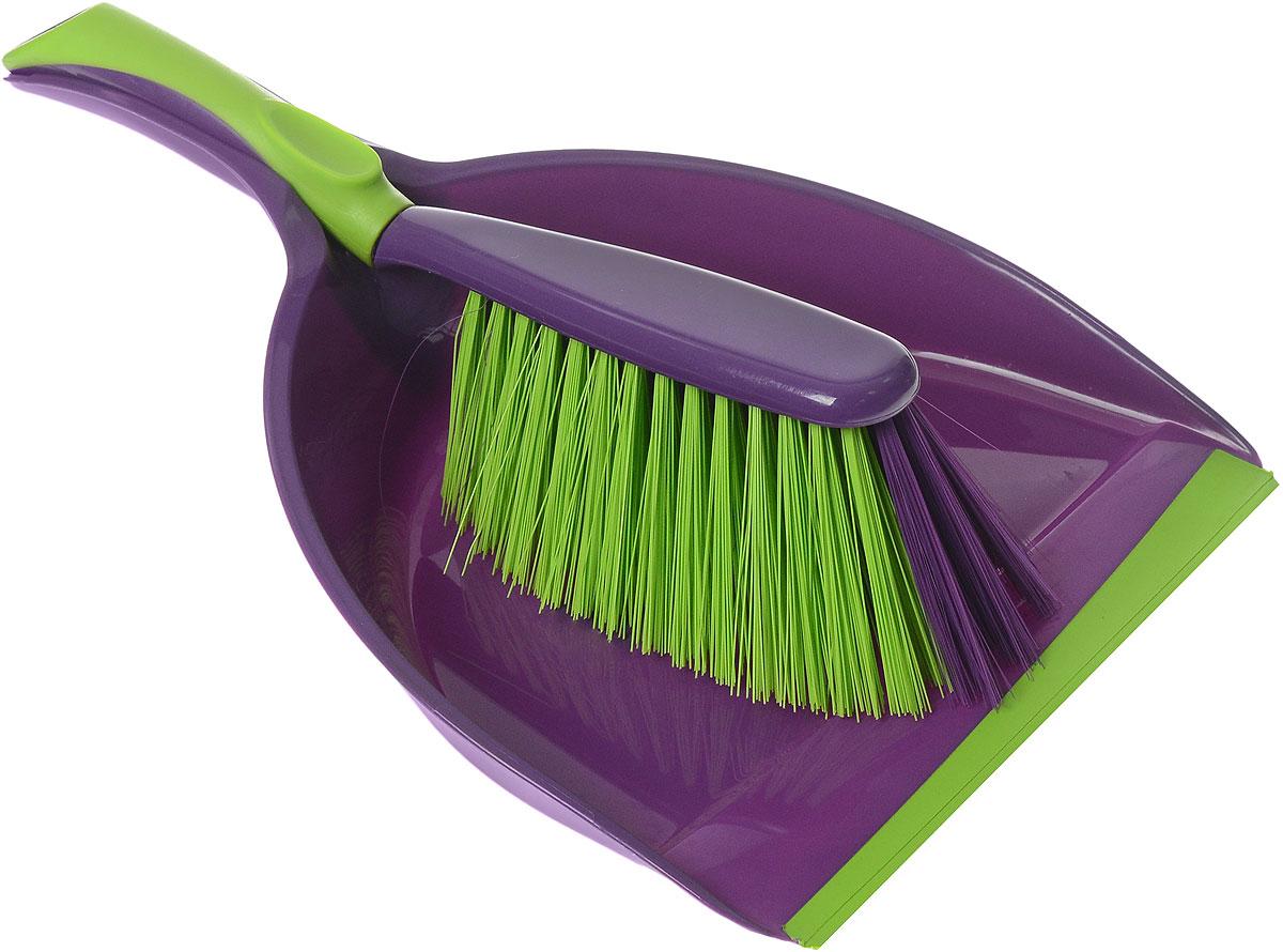 Набор для уборки York Prestige, цвет: фиолетовый, салатовый, 2 предмета6.295-875.0Набор для уборки York Prestige состоит из совка и щетки, изготовленных из высококачественного пластика. Вместительный совок удерживает собранный мусор, позволяет эффективно и быстро совершать уборку в любом помещении. Прорезиненный край совка обеспечивает наиболее плотное прилегание к полу. Щетка имеет удобную форму, позволяющая вымести мусор даже из труднодоступных мест. Совок и щетки оснащены ручками с отверстиями для подвешивания. С набором York Prestige уборка станет легче и приятнее.Общая длина щетки: 28 см.Размер рабочей части щетки: 16 см х 7 см х 6,5 см.Длина совка: 32 см.Размер рабочей части совка: 20 см х 12 см х 6 см.