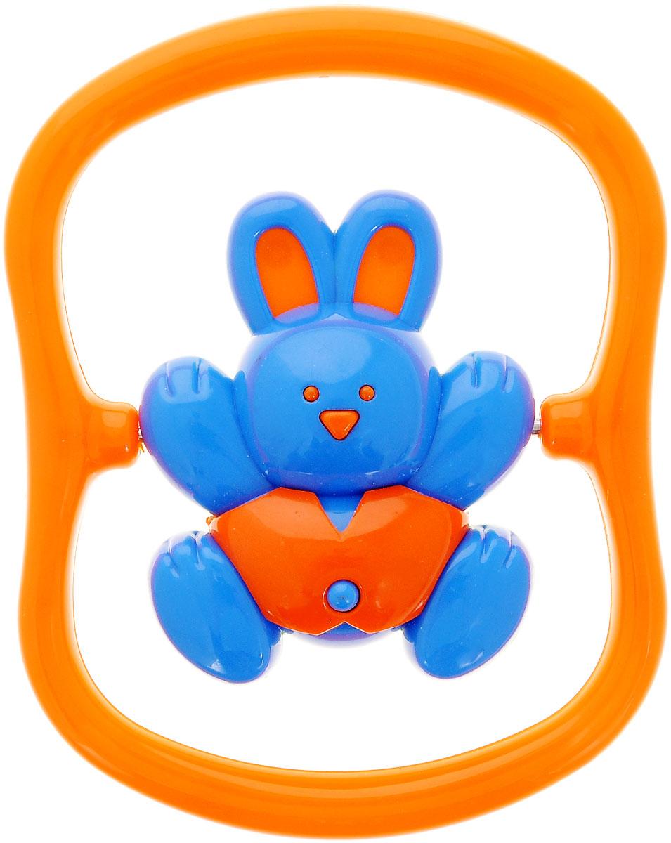 Малышарики Погремушка Зайка на качелях цвет оранжевый