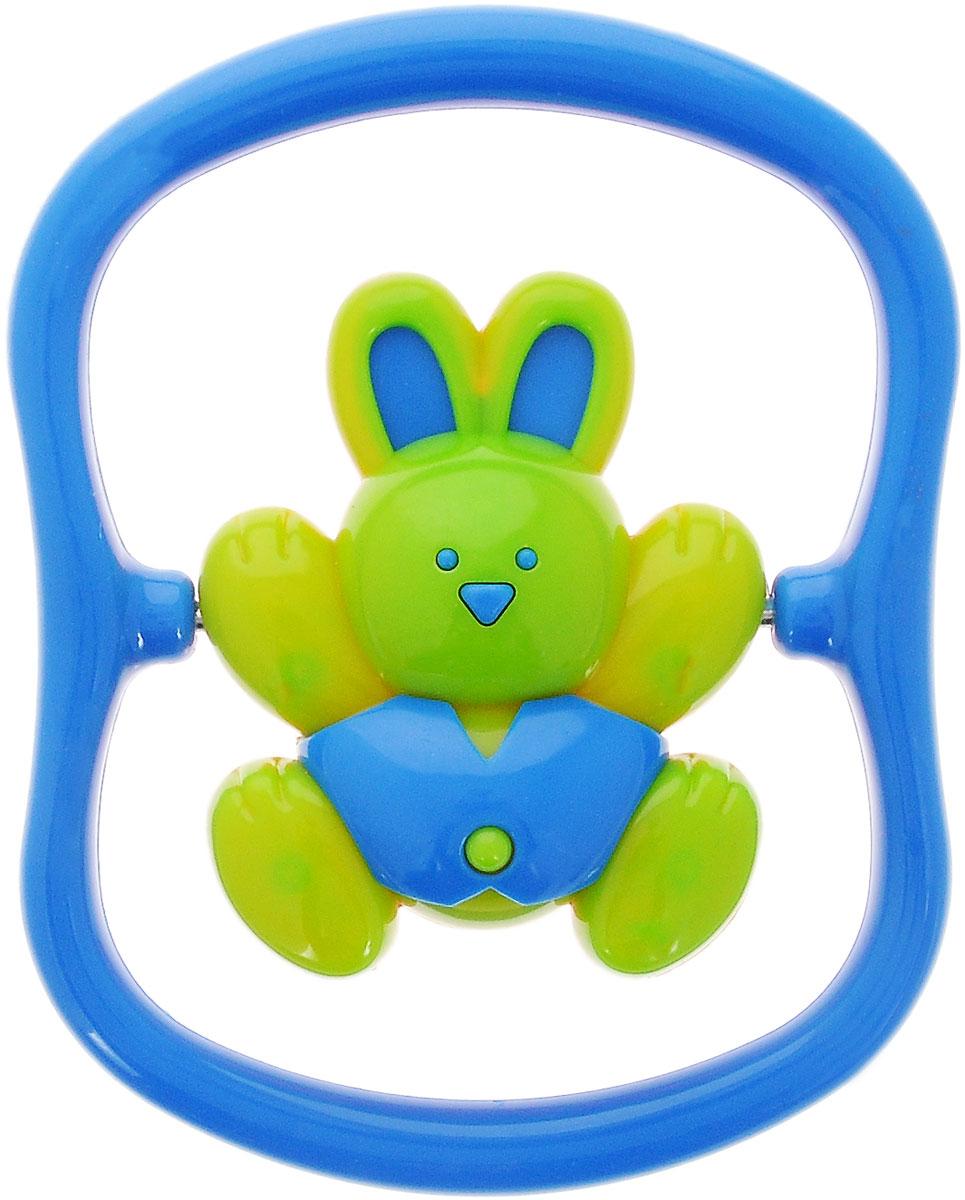 Малышарики Погремушка Зайка на качелях цвет синий погремушка малышарики карусель