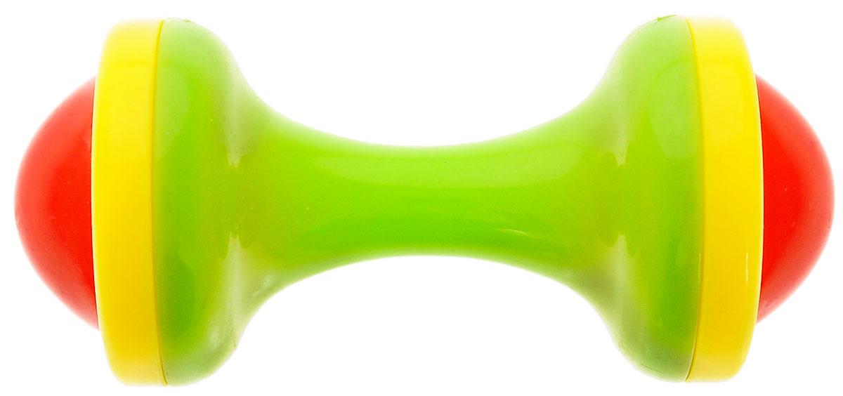 Малышарики Погремушка Гантеля цвет зеленый погремушка малышарики лягушка