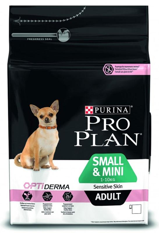Корм сухой Pro Plan Optiderma для собак мелких и карликовых пород с чувствительной кожей, с лососем и рисом, 700 гр0120710Разработанный ветеринарами и диетологами корм Pro Plan с комплексом Optiderma обеспечивает самое современное питание, которое поддерживает чувствительную кожу взрослых собак. Подтверждено, что Optiderma включает в себя специальную комбинацию питательных веществ, которые поддерживают здоровье кожи и красивую шерсть, а отобранные источники белка помогают сократить возможные кожные реакции, связанные с пищевой чувствительностью.Состав: Лосось (14%), сухой белок лосося, кукуруза, кукурузный глютен, рис (14%), кукурузная мука, животный жир, вкусоароматическая кормовая добавка, мякоть свеклы, пищевые волокна, фосфат кальция, хлорид калия, хлорид натрия, минеральные вещества, сульфат меди (медь 20 мг/кг), антиокислители (токоферолы натурального происхождения).Добавки: Витамины: витамин А 15000 МЕ/кг, витамин D3 750 МЕ/кг, витамин Е (токоферол) 500 мг/кг, витамин С (аскорбиновая кислота) 100 мг/кг.Анализ питательных веществ: белок: 29.0%; жир: 18.0%; сырая зола: 7.5%; сырая клетчатка: 3.0%; кальций: 1,3%; фосфор: 1,1%.Товар сертифицирован.