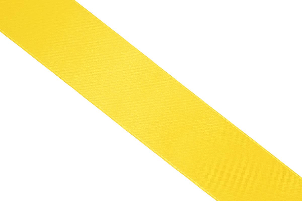 Лента атласная Prym, цвет: желтый, ширина 38 мм, длина 25 м783940Атласная лента Prym изготовлена из 100% полиэстера. Область применения атласной ленты весьма широка. Изделие предназначено для оформления цветочных букетов, подарочных коробок, пакетов. Кроме того, она с успехом применяется для художественного оформления витрин, праздничного оформления помещений, изготовления искусственных цветов. Ее также можно использовать для творчества в различных техниках, таких как скрапбукинг, оформление аппликаций, для украшения фотоальбомов, подарков, конвертов, фоторамок, открыток и многого другого.Ширина ленты: 38 мм.Длина ленты: 25 м.