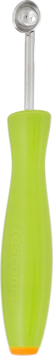Приспособление для вырезания шариков Tescoma Presto, диаметр 1,2 смFS-91909Приспособление для вырезания шариков Tescoma Presto выполнено из нержавеющей стали и пластика. Инструмент предназначен для вырезания шариков из картофеля, огурцов, морковки и других овощей или фруктов, также его возможно применять для сливочного масла, макаронных изделий. Размер приспособления: 15 см х 2,5 см х 1,5 см.Диаметр: 1,2 см.
