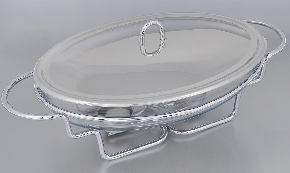 Набор для фондю Mayer & Boch, 5 предметов20882Набор для фондю Mayer & Boch станет не заменимым помощником на вашей кухне. В набор входят: - овальное блюдо, изготовленное из высокопрочного стекла Пирекс, - крышка из нержавеющей стали,- подставка, выполненная из металла с хромированным покрытием, - 2 свечи-таблетки. Блюдо, наполненное сыром, будет постепенно нагреваться от горелки, и сыр будет растапливаться. Обычай приглашать на фондю пришел из Швейцарии. Зимой в занесенных снегом домах альпийские фермеры готовили из того, что было у них под рукой, в основном из подсохшего хлеба и сыра. В наши дни фондю имеет много вариантов, когда кроме хлеба подают кубики мяса, овощей или рыбы, а вместо сыра используют масло. Традиционно фондю устраивают вечером и приглашают небольшое количество гостей, которых рассаживают за столом, в центре которого располагается фондюшница, наполненная разогретым сыром, а рядом - кубики хлеба. Каждому гостю дают специальную вилку, на которую он накалывает хлеб и опускает его в растопленный сыр. Блюдо подходит для приготовления пищи в духовом шкафу и микроволновой печи. Можно мыть в посудомоечной машине.Объем блюда: 3 л.Размер блюда: 35 см х 24 см х 6,2 см.Размер подставки: 45 см х 25 см х 10,5 см.Диаметр свечи: 3,7 см.
