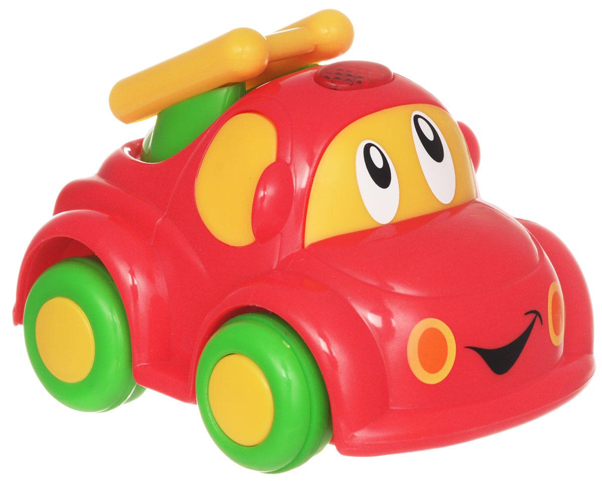 """Радиоуправляемая машинка от """"Simba"""" обязательно привлечет внимание вашего малыша. Веселая машинка с глазастой мордочкой и пультом дистанционного управления непременно понравится маленькому автолюбителю. Она изготовлена из высококачественной пластмассы и очень проста в управлении. Пульт имеет всего две кнопки: вперед и разворот. Ваш ребенок весело проведет время, играя с машинкой на пульте управления. Порадуйте своего малыша таким замечательным подарком! Для работы машинки требуются 2 батарейки типа R03 (не входят в комплект). Для работы и пульта требуются 2 батарейки типа R6 (не входят в комплект)."""