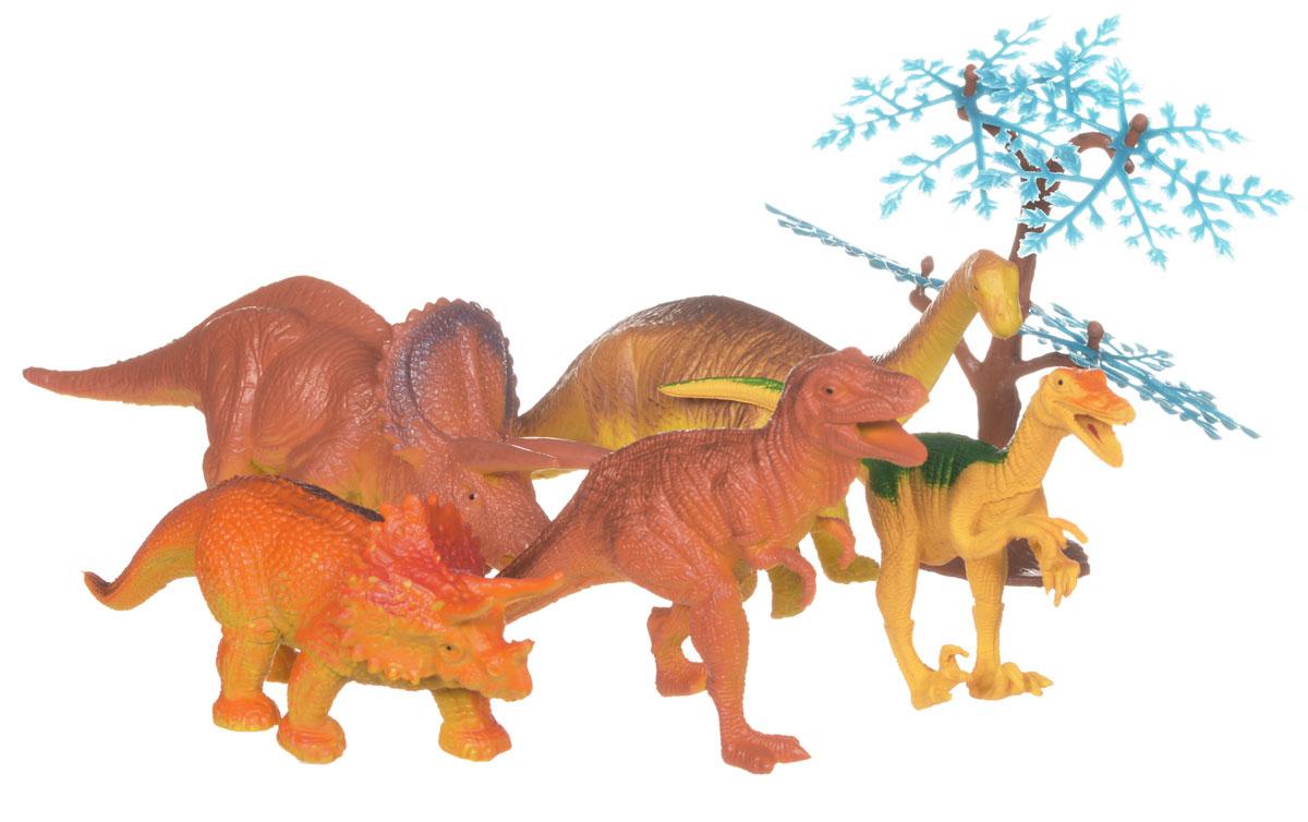 Megasaurs Набор фигурок Динозавры цвет коричневый оранжевый 5 шт набор фигурок tomy поезд динозавров мистер птеранодон дерек и олли