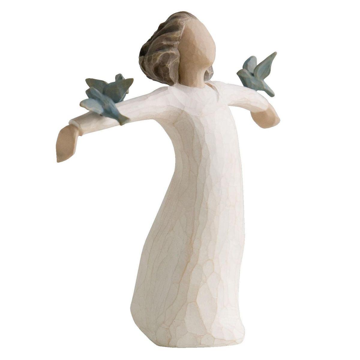 Фигурка декоративная Willow Tree Счастье, высота 13 см12723Декоративная фигурка Willow Tree создана канадским скульптором Сьюзан Лорди. Фигурка выполнена из искусственного камня (49% карбонат кальция мелкозернистой разновидности, 51% искусственный камень).Фигурка Willow Tree – это настоящее произведение искусства, образная скульптура в миниатюре, изображающая эмоции и чувства, которые помогают чувствовать себя ближе к другим, верить в мечту, выражать любовь.Фигурка помещена в красивую упаковку.Купить такой оригинальный подарок, значит не только украсить интерьер помещения или жилой комнаты, но выразить свое глубокое отношение к любимому человеку. Этот прекрасный сувенир будет лучшим подарком на день ангела, именины, день рождения, юбилей.