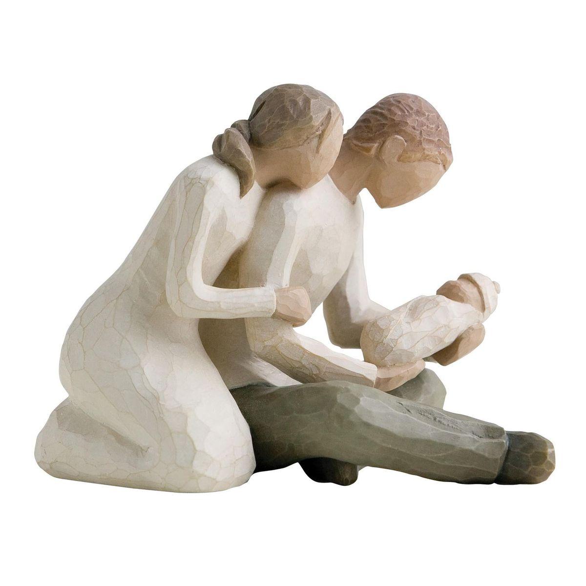 Фигурка декоративная Willow Tree Новая жизнь, высота 12,5 см26029Декоративная фигурка Willow Tree создана канадским скульптором Сьюзан Лорди. Фигурка выполнена из искусственного камня (49% карбонат кальция мелкозернистой разновидности, 51% искусственный камень).Фигурка Willow Tree – это настоящее произведение искусства, образная скульптура в миниатюре, изображающая эмоции и чувства, которые помогают чувствовать себя ближе к другим, верить в мечту, выражать любовь.Фигурка помещена в красивую упаковку.Купить такой оригинальный подарок, значит не только украсить интерьер помещения или жилой комнаты, но выразить свое глубокое отношение к любимому человеку. Этот прекрасный сувенир будет лучшим подарком на день ангела, именины, день рождения, юбилей.