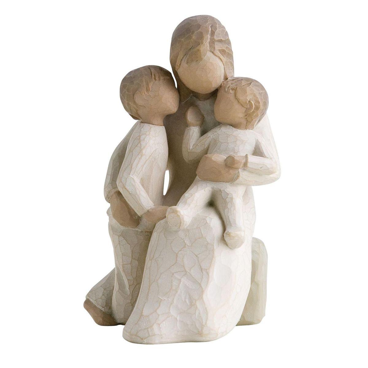Фигурка декоративная Willow Tree Спокойствие, высота 13,5 см119894Декоративная фигурка Willow Tree создана канадским скульптором Сьюзан Лорди. Фигурка выполнена из искусственного камня (49% карбонат кальция мелкозернистой разновидности, 51% искусственный камень).Фигурка Willow Tree – это настоящее произведение искусства, образная скульптура в миниатюре, изображающая эмоции и чувства, которые помогают чувствовать себя ближе к другим, верить в мечту, выражать любовь.Фигурка помещена в красивую упаковку.Купить такой оригинальный подарок, значит не только украсить интерьер помещения или жилой комнаты, но выразить свое глубокое отношение к любимому человеку. Этот прекрасный сувенир будет лучшим подарком на день ангела, именины, день рождения, юбилей.