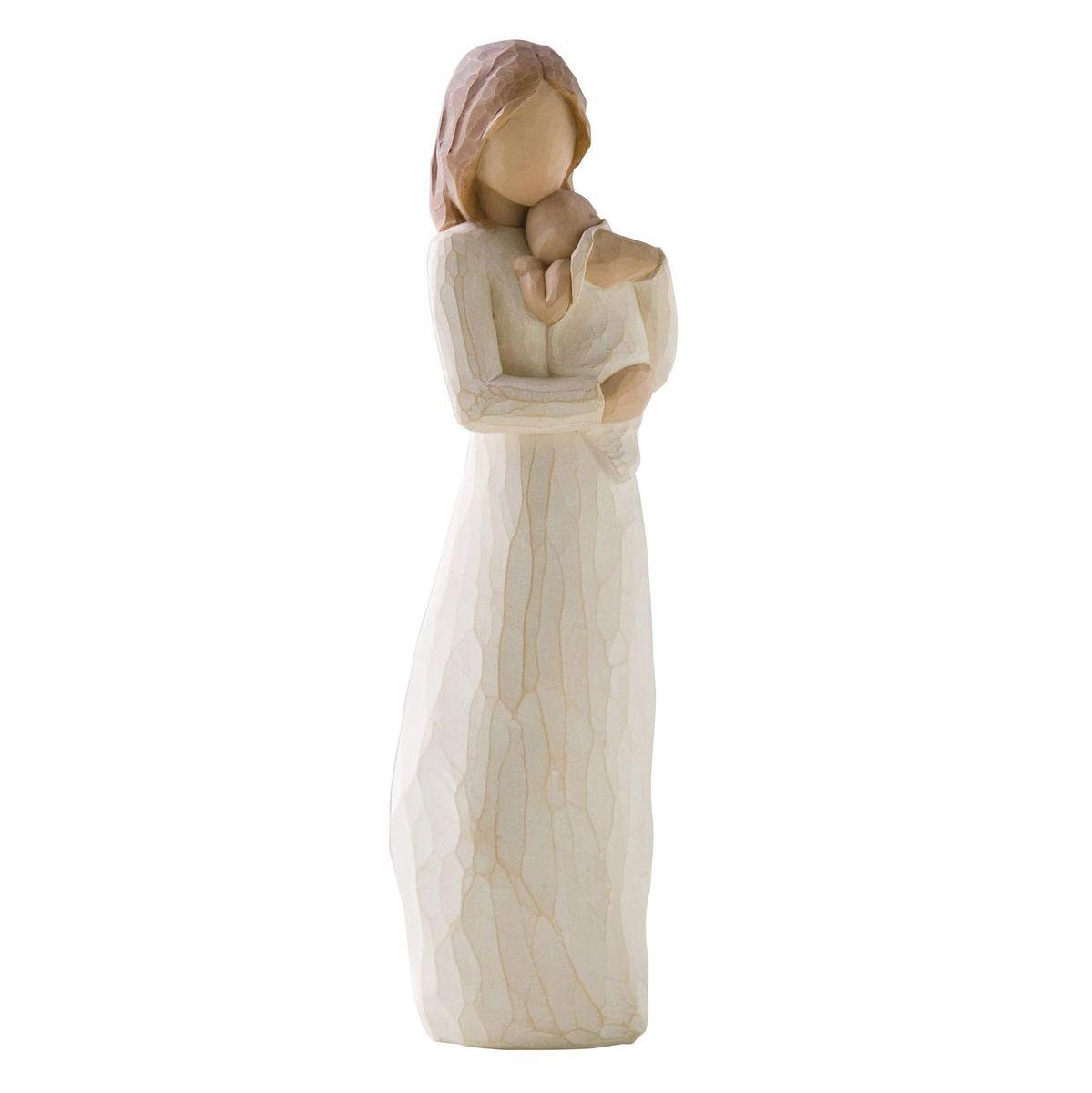 Фигурка декоративная Willow Tree Мой ангелочек, высота 22 смVWU76068A4ALДекоративная фигурка Willow Tree создана канадским скульптором Сьюзан Лорди. Фигурка выполнена из искусственного камня (49% карбонат кальция мелкозернистой разновидности, 51% искусственный камень).Фигурка Willow Tree – это настоящее произведение искусства, образная скульптура в миниатюре, изображающая эмоции и чувства, которые помогают чувствовать себя ближе к другим, верить в мечту, выражать любовь.Фигурка помещена в красивую упаковку.Купить такой оригинальный подарок, значит не только украсить интерьер помещения или жилой комнаты, но выразить свое глубокое отношение к любимому человеку. Этот прекрасный сувенир будет лучшим подарком на день ангела, именины, день рождения, юбилей.