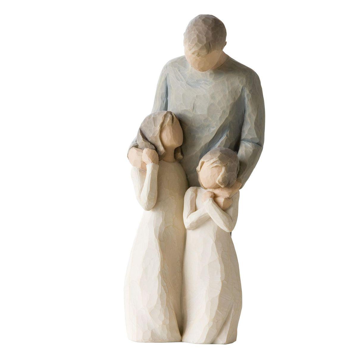 Фигурка декоративная Willow Tree Мои девочки, высота 20,5 см74-0060Декоративная фигурка Willow Tree создана канадским скульптором Сьюзан Лорди. Фигурка выполнена из искусственного камня (49% карбонат кальция мелкозернистой разновидности, 51% искусственный камень).Фигурка Willow Tree – это настоящее произведение искусства, образная скульптура в миниатюре, изображающая эмоции и чувства, которые помогают чувствовать себя ближе к другим, верить в мечту, выражать любовь.Фигурка помещена в красивую упаковку.Купить такой оригинальный подарок, значит не только украсить интерьер помещения или жилой комнаты, но выразить свое глубокое отношение к любимому человеку. Этот прекрасный сувенир будет лучшим подарком на день ангела, именины, день рождения, юбилей.