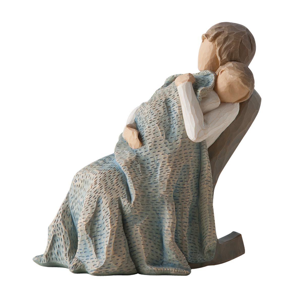 Фигурка декоративная Willow Tree Одеяло, высота 14 см28969 7Декоративная фигурка Willow Tree создана канадским скульптором Сьюзан Лорди. Фигурка выполнена из искусственного камня (49% карбонат кальция мелкозернистой разновидности, 51% искусственный камень).Фигурка Willow Tree – это настоящее произведение искусства, образная скульптура в миниатюре, изображающая эмоции и чувства, которые помогают чувствовать себя ближе к другим, верить в мечту, выражать любовь.Фигурка помещена в красивую упаковку.Купить такой оригинальный подарок, значит не только украсить интерьер помещения или жилой комнаты, но выразить свое глубокое отношение к любимому человеку. Этот прекрасный сувенир будет лучшим подарком на день ангела, именины, день рождения, юбилей.