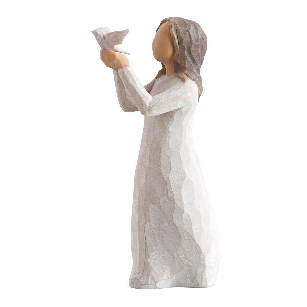 Фигурка декоративная Willow Tree Воспарить, высота 10 см27173Декоративная фигурка Willow Tree создана канадским скульптором Сьюзан Лорди. Фигурка выполнена из искусственного камня (49% карбонат кальция мелкозернистой разновидности, 51% искусственный камень).Фигурка Willow Tree – это настоящее произведение искусства, образная скульптура в миниатюре, изображающая эмоции и чувства, которые помогают чувствовать себя ближе к другим, верить в мечту, выражать любовь.Фигурка помещена в красивую упаковку.Купить такой оригинальный подарок, значит не только украсить интерьер помещения или жилой комнаты, но выразить свое глубокое отношение к любимому человеку. Этот прекрасный сувенир будет лучшим подарком на день ангела, именины, день рождения, юбилей.
