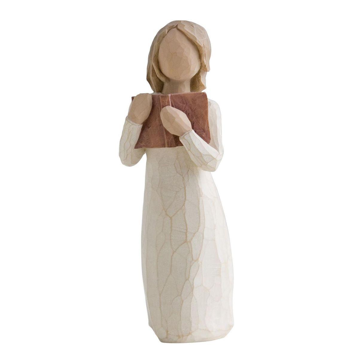 Фигурка декоративная Willow Tree Любовь к учебе, высота 7 см452022Декоративная фигурка Willow Tree создана канадским скульптором Сьюзан Лорди. Фигурка выполнена из искусственного камня (49% карбонат кальция мелкозернистой разновидности, 51% искусственный камень).Фигурка Willow Tree – это настоящее произведение искусства, образная скульптура в миниатюре, изображающая эмоции и чувства, которые помогают чувствовать себя ближе к другим, верить в мечту, выражать любовь.Фигурка помещена в красивую упаковку.Купить такой оригинальный подарок, значит не только украсить интерьер помещения или жилой комнаты, но выразить свое глубокое отношение к любимому человеку. Этот прекрасный сувенир будет лучшим подарком на день ангела, именины, день рождения, юбилей.