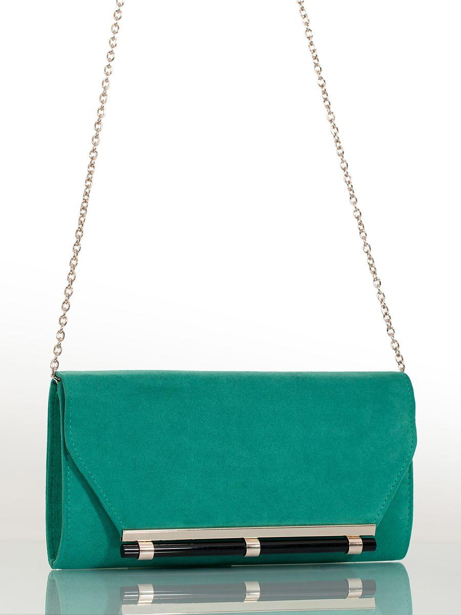 Клатч вечерний жен. Eleganzza, цвет: бирюзовый. ZZ-518710130-11Женская сумка-клатч торговой марки ELEGANZZA. Сумка закрывается на магнит. Внутри - одно отделение, в котором есть один кармашек. Модель имеет ремень в виде цепочки. Длина наплечного ремня - 115 см.