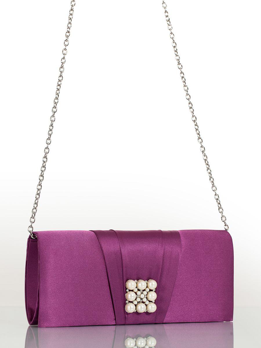 Клатч вечерний жен. Eleganzza, цвет: фиолетовый. ZZ-13459-221-0254-13Женская сумка-клатч торговой марки ELEGANZZA. Сумка закрывается на магнит. Внутри - одно отделение, в котором есть один кармашек. Модель имеет ремень в виде цепочки. Длина наплечного ремня - 115 см.