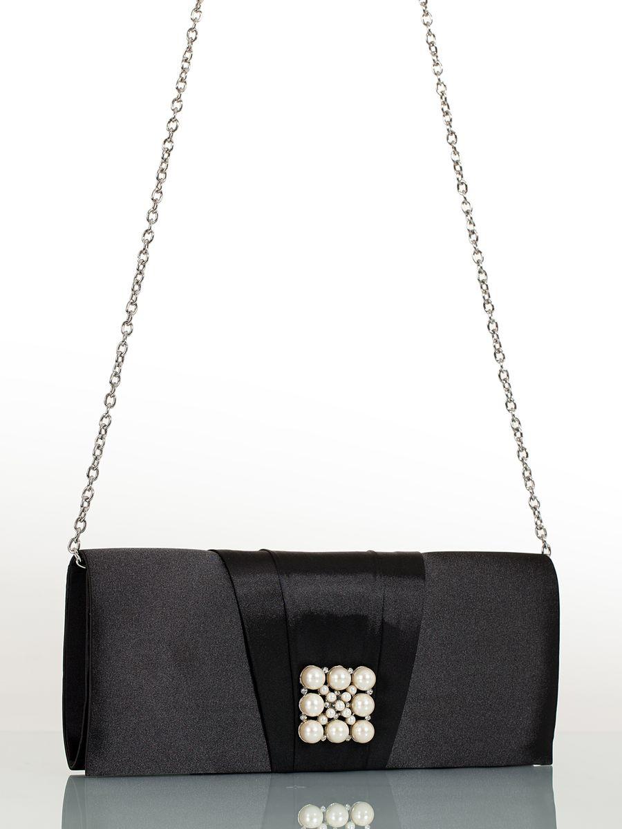 Клатч вечерний жен. Eleganzza, цвет: черный. ZZ-13459-2S76245Женская сумка-клатч торговой марки ELEGANZZA. Сумка закрывается на магнит. Внутри - одно отделение, в котором есть один кармашек. Модель имеет ремень в виде цепочки. Длина наплечного ремня - 115 см.