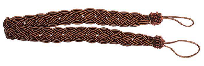 Подхват для штор Goodliving Коса, цвет: темно-коричневый (32), длина 62 см, 2 шт. 7711741RC-100BWCПодхват для штор Goodliving Коса представляет собой плотный узор, плетеный в виде косы. Изделие оснащено петлями для фиксации штор, гардин и портьер. Подхват - это основной вид фурнитуры в декоре штор, сочетающий в себе не только декоративную функцию, но и практическую - регулировать поток света. Такой аксессуар способен украсить любую комнату.Длина подхвата (с учетом петель): 62 см. Ширина подхвата: 2,5 см.