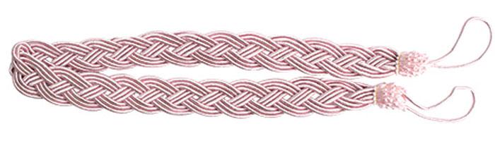 Подхват для штор Goodliving Коса, цвет: розовый (56), длина 62 см, 2 шт. 77117414620019034603Подхват для штор Goodliving Коса представляет собой плотный узор, плетеный в виде косы. Изделие оснащено петлями для фиксации штор, гардин и портьер. Подхват - это основной вид фурнитуры в декоре штор, сочетающий в себе не только декоративную функцию, но и практическую - регулировать поток света. Такой аксессуар способен украсить любую комнату.Длина подхвата (с учетом петель): 62 см. Ширина подхвата: 2,5 см.