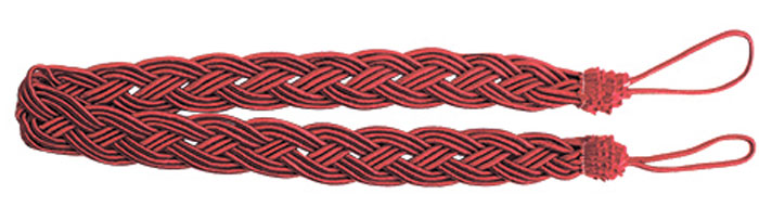 Подхват для штор Goodliving Коса, цвет: красный (15), длина 62 см, 2 шт. 77117412615S540JAПодхват для штор Goodliving Коса представляет собой плотный узор, плетеный в виде косы. Изделие оснащено петлями для фиксации штор, гардин и портьер. Подхват - это основной вид фурнитуры в декоре штор, сочетающий в себе не только декоративную функцию, но и практическую - регулировать поток света. Такой аксессуар способен украсить любую комнату.Длина подхвата (с учетом петель): 62 см. Ширина подхвата: 2,5 см.
