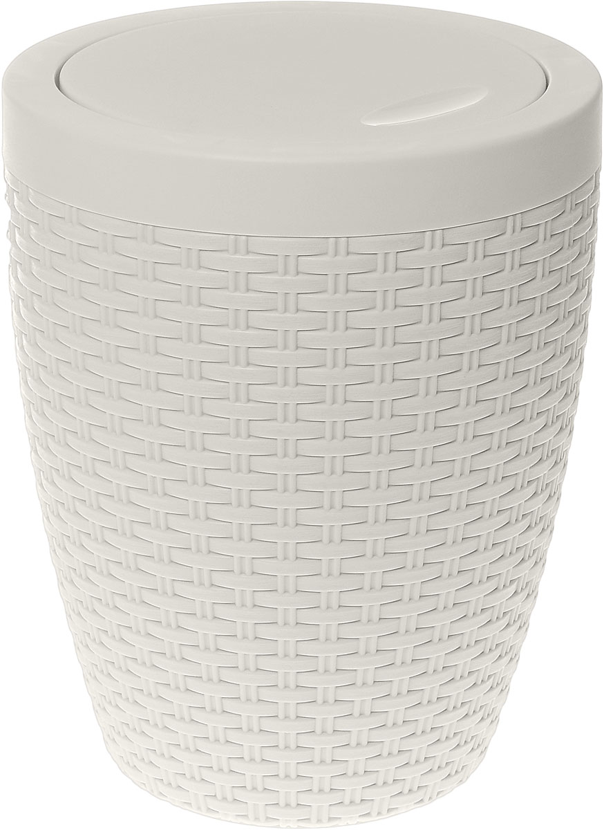 Контейнер для мусора Альтернатива Плетенка, цвет: слоновая кость, 8 лRG-D31SКонтейнер для мусора Альтернатива Плетенка изготовлен из прочного пластика. Внешние стенки оформлены оригинальным плетением. Такой аксессуар очень удобен в использовании, как дома, так и в офисе. Контейнер снабжен удобной поворачивающейся крышкой. Стильный дизайн сделает его прекрасным украшением интерьера.