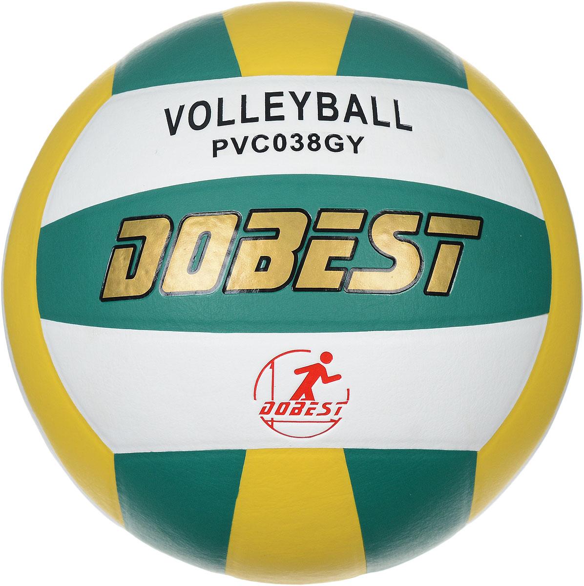 Мяч волейбольный Dobest, цвет: белый, зеленый, желтый. Размер 5PVC038Волейбольный мяч Dobest подойдет для любительской игры на улице и в зале. Изделие выполнено из прочного поливинилхлорида, камера - резина. Панели клееные.Количество панелей: 18.Количество слоев: 4.Вес: 260-280 г.УВАЖЕМЫЕ КЛИЕНТЫ!Обращаем ваше внимание на тот факт, что мяч поставляется в сдутом виде. Насос не входит в комплект.