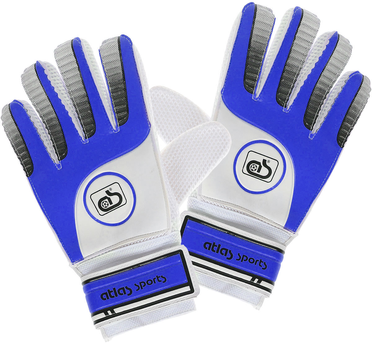 Перчатки вратарские  Atlas , цвет: синий, белый - Футбол