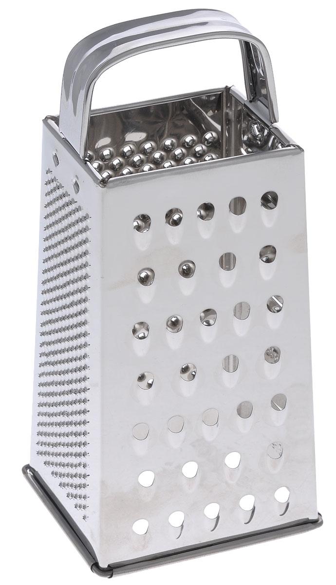 Терка четырехгранная Mayer & Boch, высота 20,8 см115510Четырехгранная терка Mayer & Boch, выполненная из высококачественной нержавеющей стали с зеркальной полировкой, станет незаменимым атрибутом приготовления пищи. На одном изделие представлены четыре вида терок - крупная, мелкая, фигурная и нарезка ломтиками. Современный стильный дизайн позволит терке занять достойное место на вашей кухне.