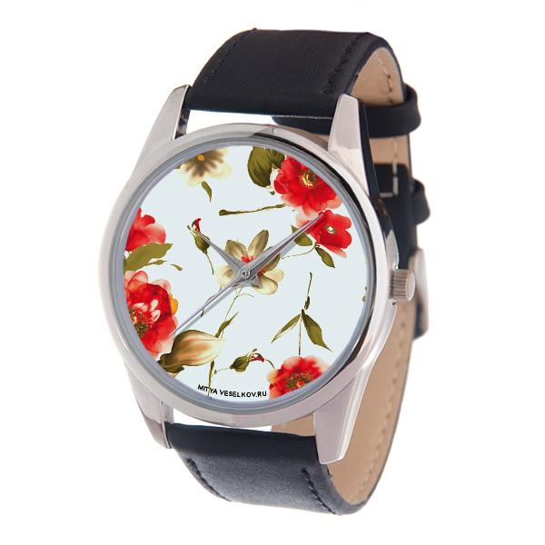 Часы наручные женские Mitya Veselkov Акварель, цвет: серебряный, черный, белый. MV-189BM8434-58AEОригинальные женские часы Mitya Veselkov Акварель выполнены из металлического сплава, натуральной кожи и минерального стекла. Циферблат изделия оформлен изображением цветов.Корпус часов оснащен японским кварцевым механизмом, а также дополнен минеральным стеклом и имеет степень влагозащиты равную 3 atm. Ремешок дополнен практичной пряжкой, которая позволит моментально снимать и одевать часы без лишних усилий.Часы поставляются в фирменном стакане.Часы Mitya Veselkov подчеркнут изящность женской руки и отменное чувство стиля у их обладательницы.