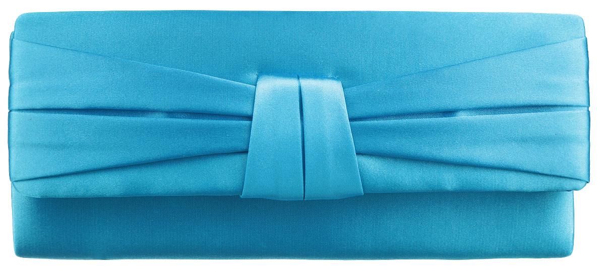 Клатч женский Eleganzza, цвет: бирюзовый. ZZ-13486-2S76245Стильный женский клатч Eleganzza выполнен из полиэстера. Изделие содержит одно отделение, закрывающееся на клапан с магнитной кнопкой. Внутри имеется открытый накладной карман. Модель оснащена плечевым ремнем в виде цепочки. Роскошный клатч внесет элегантные нотки в ваш образ и подчеркнет ваше отменное чувство стиля.