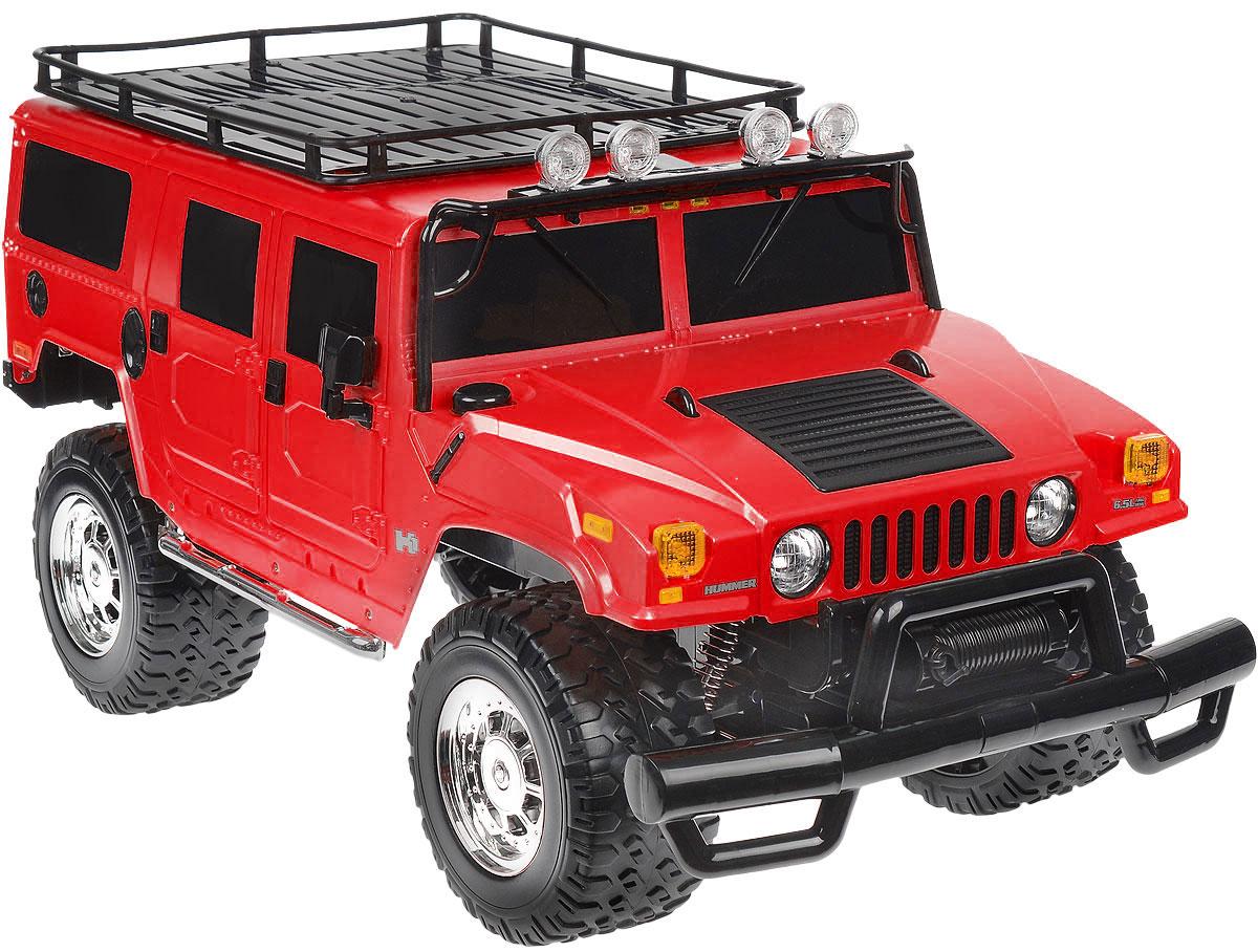 """Радиоуправляемая модель Rastar """"Hummer H1 Suv"""" станет отличным подарком любому мальчику! Все дети хотят иметь в наборе своих игрушек ослепительные, невероятные и крутые автомобили на радиоуправлении. Тем более, если это автомобиль известной марки с проработкой всех деталей, удивляющий приятным качеством и видом. Одной из таких моделей является автомобиль на радиоуправлении Rastar """"Hummer H1 Suv"""". Это точная копия настоящего авто в масштабе 1:6. Возможные движения: вперед, назад, вправо, влево, остановка. Имеются световые эффекты. Пульт управления работает на частоте 40 MHz. Игрушка работает на сменном аккумуляторе (входит в комплект). Для работы пульта управления необходима 1 батарейка 9V (6F22) (не входит в комплект)."""