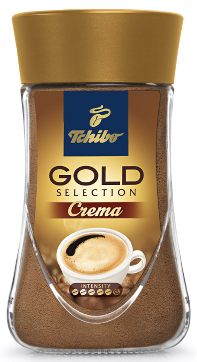 Tchibo Gold Selection Crema кофе растворимый, 90 г лопатка tchibo