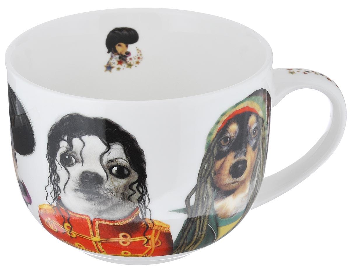 Кружка GiftnHome Star Dogs. Знаменитые лица, 500 мл54 009312Кружка GiftnHome Star Dogs. Знаменитые лица изготовлена из высококачественного костяного фарфора, покрытого слоем сверкающей глазури. Внешние стенки оформлены оригинальным изображением собак в образах знаменитостей. Кружка отличается высоким качеством и стильным дизайном. Она станет прекрасным подарком к любому случаю. Можно использовать в СВЧ и посудомоечной машине.