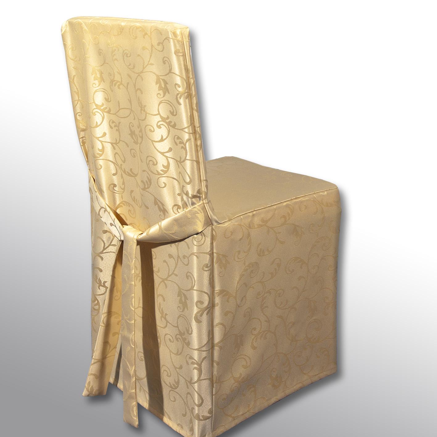 Чехол на стул Schaefer, цвет: бежевый, 45 х 45 х 45 см54 009312Чехол на стул Schaefer выполнен из полиэстера с красивым узором. На спинке чехол завязывается на завязки. Предназначен для классического стула со спинкой. Такой чехол изысканно дополнит интерьер вашего дома.