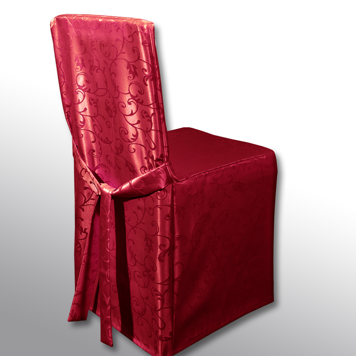 Чехол на стул Schaefer, цвет: красный, 45 х 45 х 45 см2/8-2Чехол на стул Schaefer выполнен из полиэстера с красивым узором. На спинке чехол завязывается на завязки. Предназначен для классического стула со спинкой. Такой чехол изысканно дополнит интерьер вашего дома.