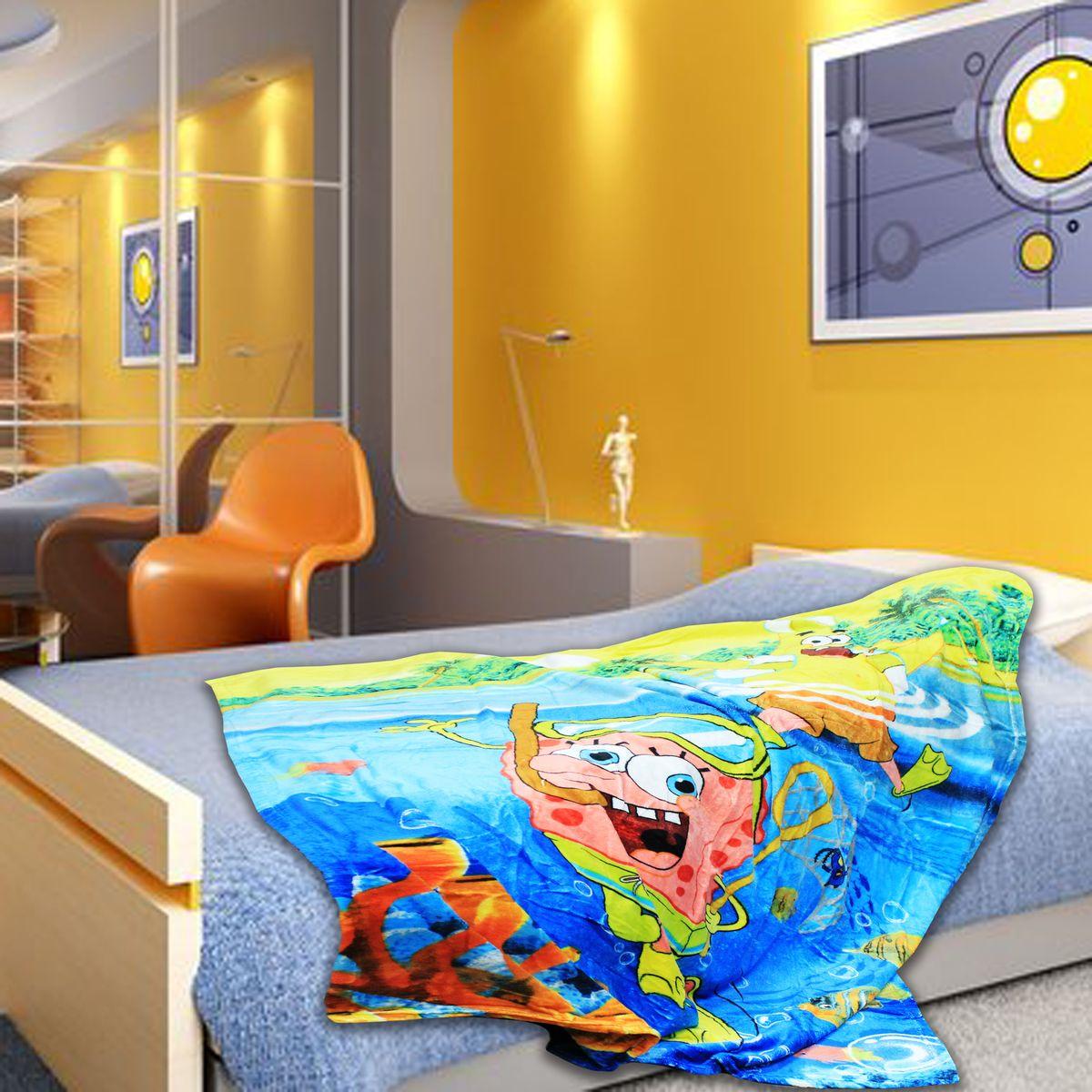 TexRepublic Плед Absolute Spongebob цвет голубой желтый 127 х 152 смNap200 (40)Детский плед TexRepublic Absolute: Spongebob согреет вашего малыша в любое время года, а яркие цвета долгое время будут радовать его.Пледы из микрофибры обладают уникальными свойствами – они быстро высыхают после стирки, гипоаллергенные, гигиеничные (не поглощают влагу и грязь). Повышенная практичность: не линяют, не электризуются и не мнутся, не скатываются, не оставляют после себя волокон, прочные и эластичные. Плед оформлен красочным принтом.