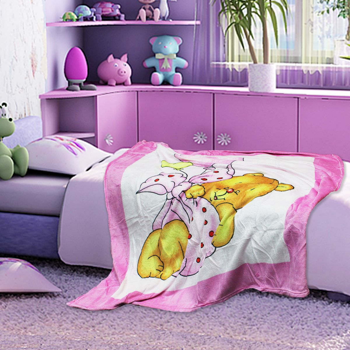 TexRepublic Плед Absolute Taw цвет розовый 127 х 152 см -  Детский текстиль