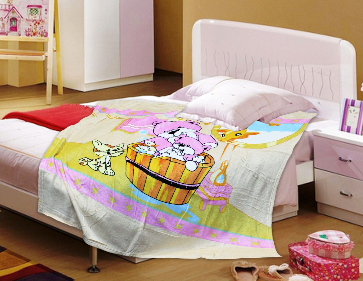 TexRepublic Плед Absolute Bathe цвет бежевый розовый 127 х 152 см -  Детский текстиль