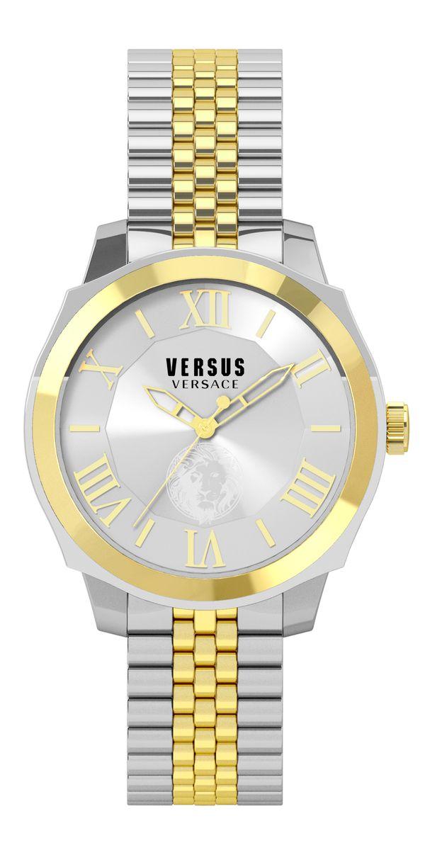 Наручные часы женские Versus Versace, цвет: золотой. SOV04 0015BM8434-58AE3 стрелки, механизм кварцевый Citizen_2025, сталь, диаметр циферблата 42 мм, браслет, застежка из стали, стекло минеральное, водонепроницаемость - 3 АТМ