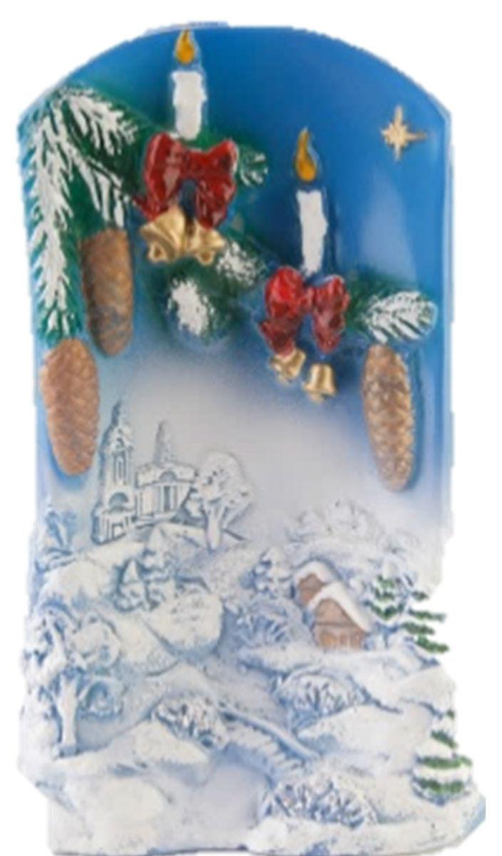 Свеча декоративная Принт Торг Рождественская свеча, высота 16 см25051 7_зеленыйДекоративная свеча Принт Торг Рождественская свеча выполнена из парафина. Изделие оформлено в виде зимнего пейзажа и декорировано блестками с еловой веточкой, украшенной игрушками. Свеча отличается ярким дизайном, который понравится всем. Создайте для себя и своих близких незабываемую атмосферу праздника и уюта в доме.