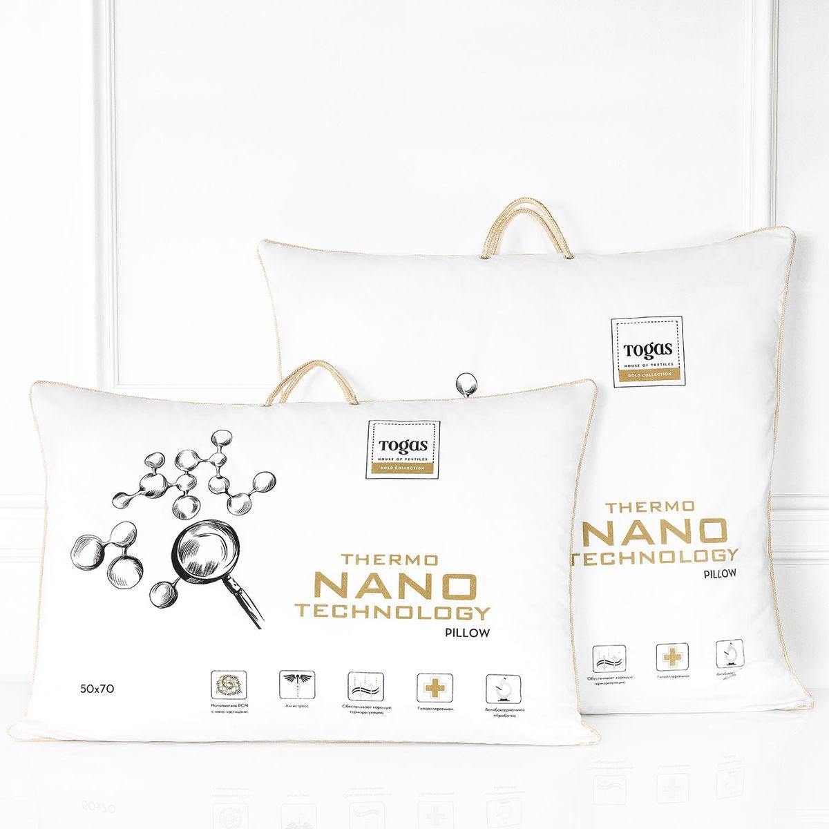 """Подушка Нано микрофайбер с микрокапсулами нано. 20.05.18.0010WUB 5647 weisКомфортная темпетатура тела во время сна - важная составляющая комфорта. В идеальных условиях тело расслабляется и по-настоящему отдыхает, как результат - Вы просыпаетесь отдохнувшим и бодрым, готовым к новым свершениям. накоплению усталости и стрессам. Чтобы этого избежать, правильно выбирайте постельные принадлежности. """"Микрофайбер с микрогранулами НАНО"""" - подушка с """"климатконтролем"""". Она «подстраивается» под различные температурные условия, регулируя температуру тела во время сна, наполняя Вас ощущением легкости и комфорта."""