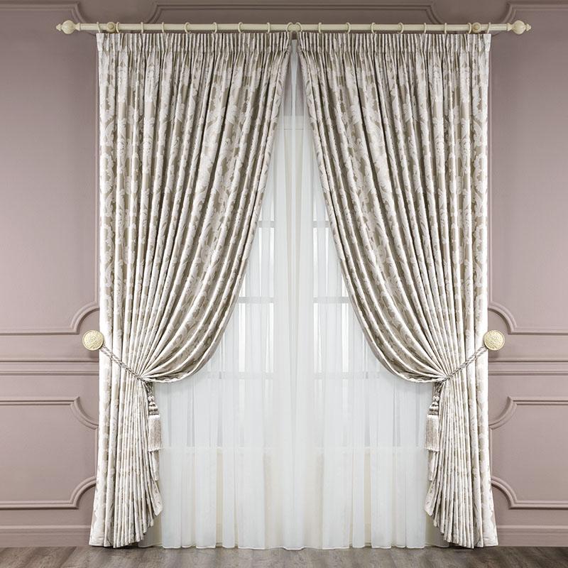 Комплект штор Сиена, 250х275-2/500х275-1/кисти-2956251325Состав:60% вискоза, 40% полиэстерЦвет:золотой Комплектация: 2 полотна, 1 тюль, 2 подхвата Размеры: 250х275 - 2 полотна , 500х275 - 1 тюль 2Детали: : классический крой, вензельный орнамент в стиле барокко, подклад, подхваты в виде кистей, тюль из органзы Уход: необходима профессиональная химчистка или деликатная стирка при температуре 40°С с использованием мягких моющих средств для деликатных тканей. Избегать воздействия прямых солнечных лучей. Гладить с увлажнителем. Не отбеливать.