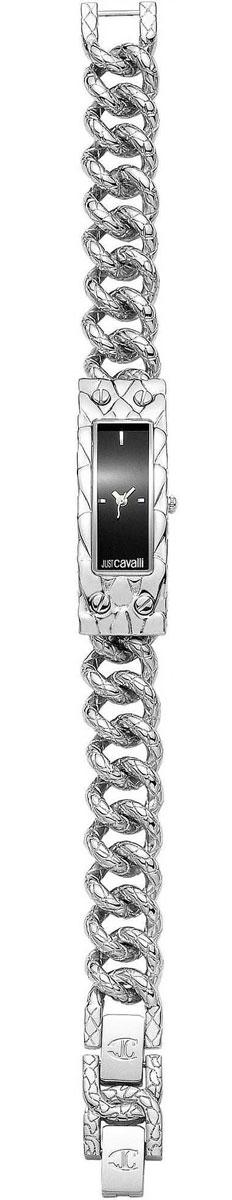 Наручные часы женские Just Cavalli, цвет: стальной, черный. 7253129525NEW6SMALLBLACKDIAL/BBM8434-58AEМеханизм: кварцевый, Стекло: минеральное, Браслет: стальной, Водозащита: 3 АТМКорпус: стальной
