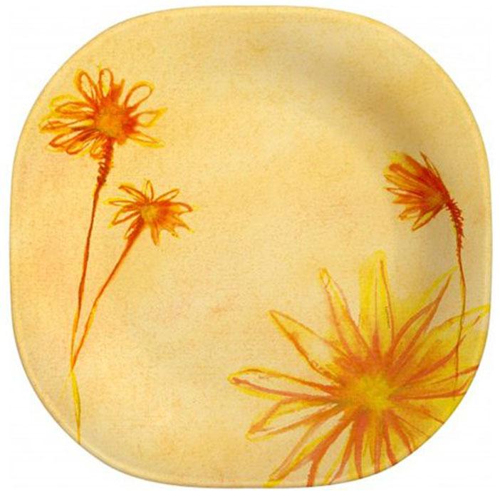 Тарелка Luminarc Sunrise, 20 см х 20,3 смН9110Тарелка Luminarc Sunrise выполнена из высококачественного стекла и украшена изображением цветов. Изделие сочетает в себеизысканный дизайн с максимальной функциональностью. Она прекрасно впишется в интерьер вашей кухни и станет достойным дополнением к кухонному инвентарю. Тарелка Luminarc подчеркнет прекрасный вкус хозяйки и станет отличным подарком. Размер тарелки (по верхнему краю): 20 см х 20,3 см. Высота стенки: 3 см.