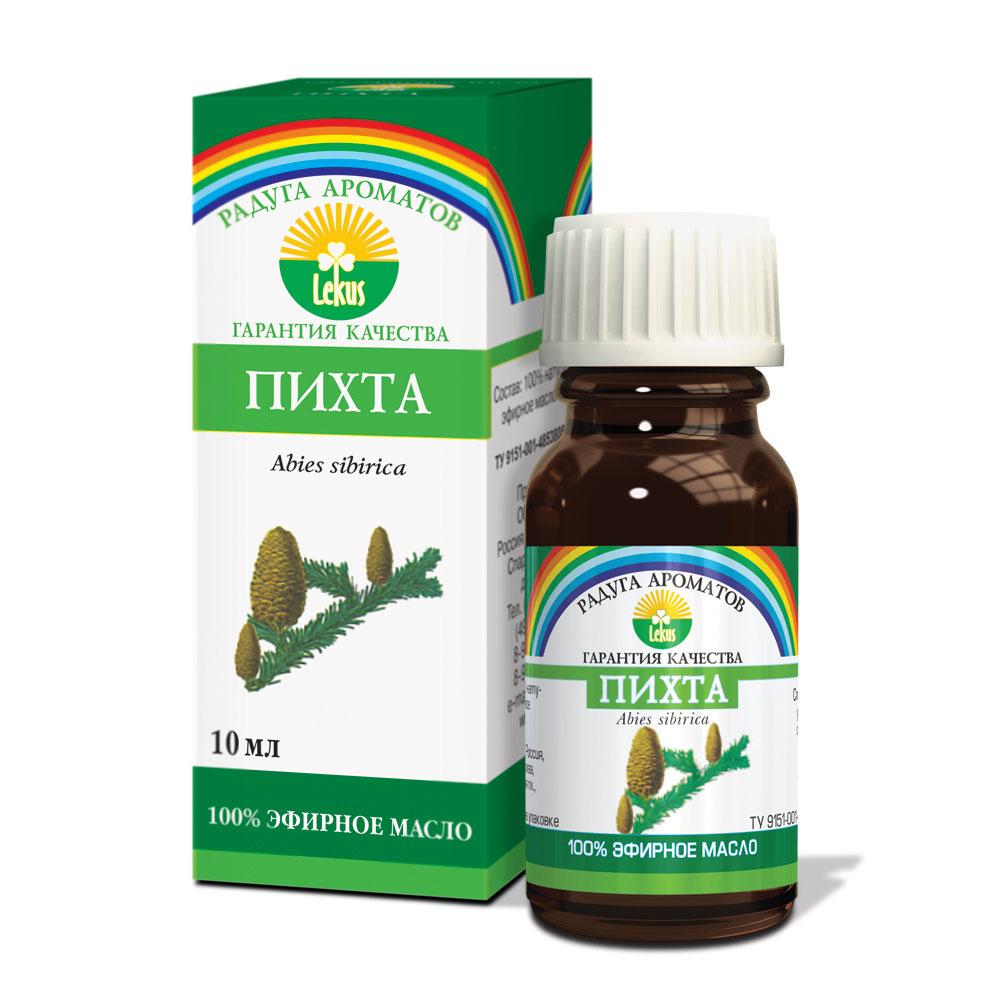 Радуга ароматов Пихта масло эфирное, 10 мл531-301Эмоциональное действие: устраняет подавленное настроение, тонизирует, повышает выносливость и жизненную активность. Снимает стресс, хроническую усталость, успокаивает, настраивает на оптимизм (ароматизация воздуха).Косметическое действие: подтягивает кожу. Ликвидирует неприятный запах ног (обогащение косметических средств).Целебное действие: стимулирует иммунитет. Великолепное средство при переохлаждении (растирания). Обладает антимикробной активностью, с успехом применяется при простудных заболеваниях. Усиливает остроту зрения при переутомлении глаз (массаж, ванны, бани, сауны). Аромат-репеллент.Способы применения:Ароматизация воздуха: аромалампу наполняют горячей водой, капают 4-5 капель эфирного масла из расчета на 15 м? площади. В нижнюю часть аромалампы помещают зажженную свечу. Свеча нагревает воду. Не допускать кипения воды, время от времени необходимо добавлять воду. Длительность процедуры 15-30 мин.Массаж: эфирное масло (6-7 капель) смешать с 1-2 столовыми ложками любого косметического масла (жожоба, персиковое, миндальное, абрикосовое, виноградной косточки, авакадо и т.д.) или массажного крема, нанести на кожу. После чего производится локальный массаж проблемных участков.Ванны: в ванну с температурой воды 37-40С° добавить 6-7 капель эфирного масла. Для лучшего растворения его можно предварительно смешать с 2-4 столовыми ложками эмульгатора (морская или поваренная соль, мед, сливки, жидкое мыло, пена для ванны). Длительность процедуры 15-30 минут. Обогащение косметических средств: 4-6 капель смешать с 15 г основы (косметическое масло, крем, лосьон, тоник, маска, гель для душа, шампунь, бальзам и т.д.).Сауны, бани: в ковш с водой добавить 10 капель эфирного масла, этой смесью окропить деревянные лавки и стены. Непосредственно на раскаленные камни лить эту смесь не рекомендуется, т.к. при этом возможно подгорание масла.Растирания: 12 капель смешать с 15 г основного косметического масла (жожоба, персиковое, минд