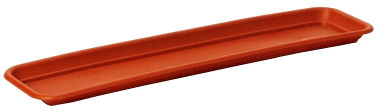 Поддон для балконного ящика Lamela, цвет: терракотовый, 77,5 смМ 8622Поддон для балконного ящика Lamela выполнен из высококачественного пластика. Изделие предназначено для стока воды.