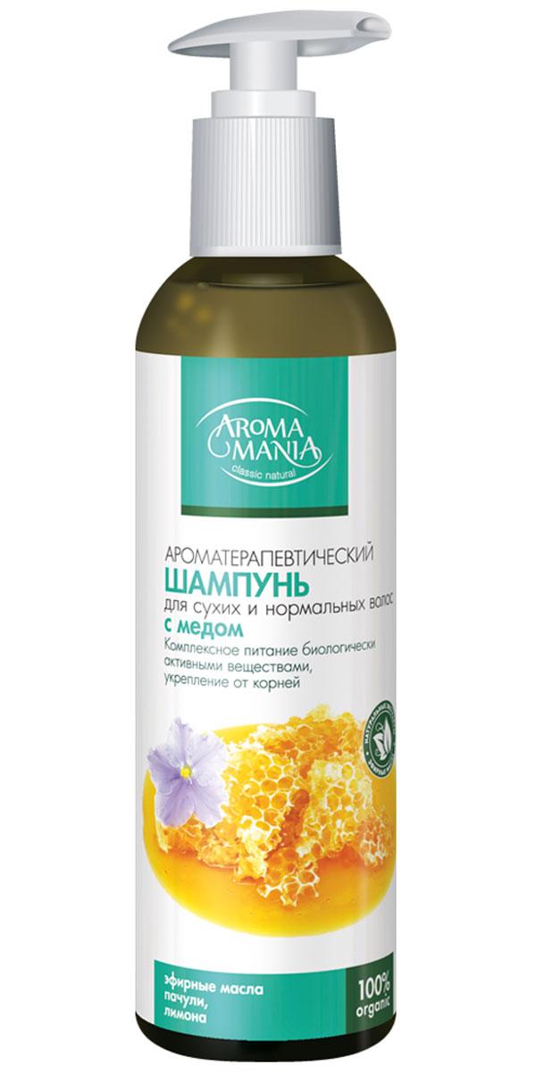 Аромамания шампунь с медом, 250 млFS-00897Шампунь для сухих и нормальных волосмедовый- Комплексное питание биологически активными веществами, укрепление корней, поддержание здорового баланса влажности .