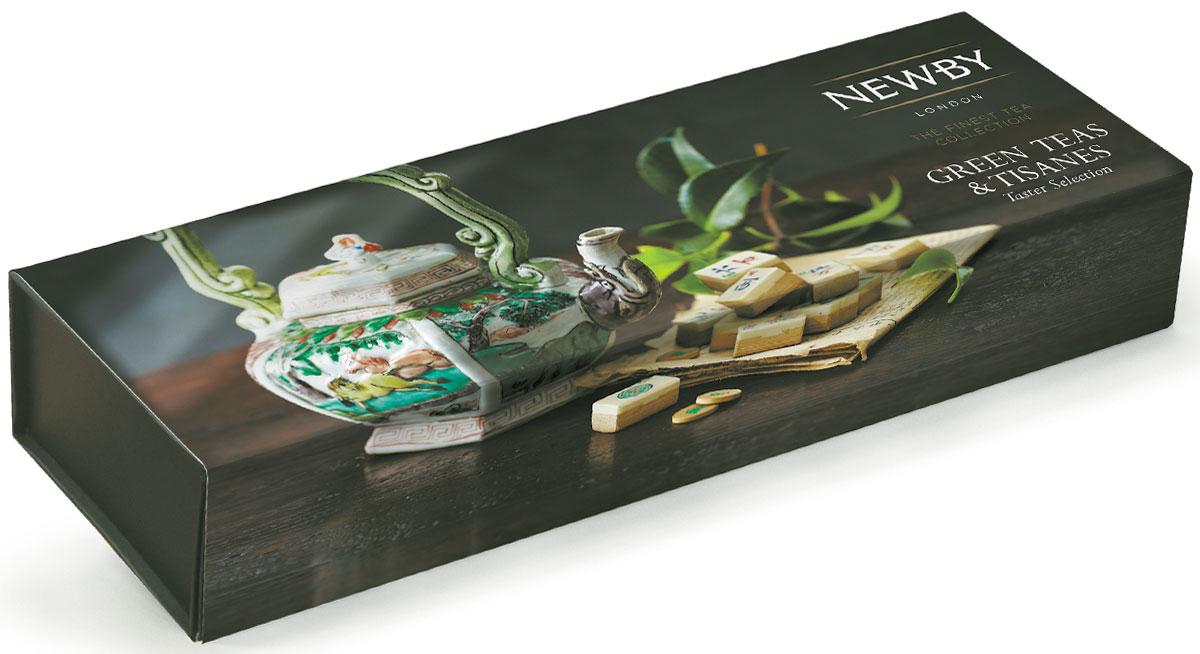 Newby Green Teas & Tisanes подарочный набор зеленого листового чая (4 вкуса), 100г0120710Подарочная упаковка Newby Green Teas & Tisanes посвящена возрождению чайной культуры и декорирована уникальными чайниками и шкатулками из коллекции Chitra компании Newby. Внутри каждой картонной коробочки листовой чай отменного качества.Жасминовая принцесса - светло-медовый настой с изысканным ароматом жасмина. Вкус мягкий, деликатный, с цветочными нотками и сладким послевкусием.Имбирь и Лимон - имбирный корень, душистый лемонграсс в смеси с цедрой лимона. Легкий настой бледного желто-соломенного цвета. Бодрящие свежие ароматы лимона и имбиря дают долгое послевкусие.Хунан Грин - этот чай, скрученный в виде плотных спиралей, дает изысканный светло-зеленый настой с нежным ароматом, сладким оттенком во вкусе и мягким послевкусием.Ройбос Апельсин - сочетание цедры сладкого апельсина с ройбосом дает мягкий настой ярко-оранжевого цвета с фруктово - цитрусовыми нотками. Чай заварить горячей водой 70-80 °C и дать настояться 2-3 минуты.