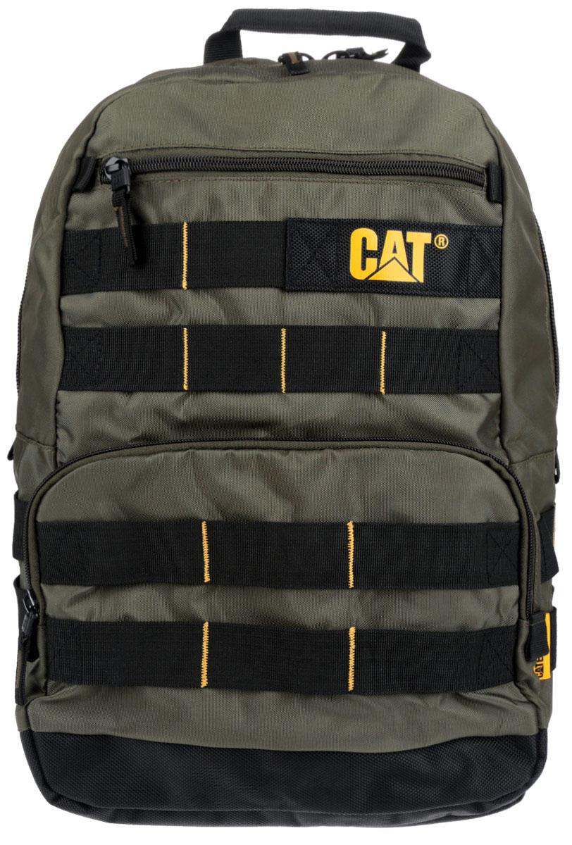 Рюкзак Caterpillar Trabajo, цвет: темно-зеленый, черный, 22 лRivaCase 8460 blackСтильный рюкзак Caterpillar Trabajo изготовлен из полиэстера. Рюкзак имеет одно основное отделение, которое закрывается на застежку-молнию с двумя бегунками. Внутри имеется сетчатый карман на застежке-молнии и накладной открытый карман. Снаружи, на передней стенке находится прорезной карман на застежке-молнии и накладной открытый карман на застежке-молнии. Рюкзак оснащен удобными широкими лямками с мягкой подкладкой, которые регулируются по длине, и текстильной ручкой. Стильный рюкзак Caterpillar Trabajo станет незаменим для активных молодых людей.